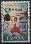 Sellos de Europa - España -  XX Juegos Olimpicos en Munich (Haltereofilia)
