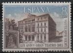 Sellos de Europa - España -  125º aniversario d´Gran Teatro d´Liceo