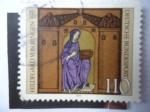 Stamps Germany -  Hildegard Von Bingen (1098-1179) Escritor y Músico - 800 Aniversario de su Muerte- Alemania Rep. Fe