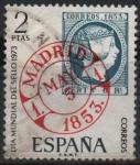 Sellos de Europa - España -  Dia mundial d´sello 1973 ( Fechador d´Madrid)