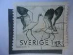 Sellos de Europa - Suecia -  Grulla Común - Serie:1967-1970.