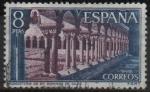Stamps Spain -  Monasterio d´Santo Domingo dl Silos (Claustro)