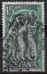 Stamps : Europe : Spain :  Monasterio d´Santo Domingo dl Silos (Detalle dl un Bajorrelieve d´Claustro)