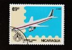 Sellos de America - Nicaragua -  Avión supersónico