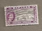Stamps America - Bahamas -  Playa paraiso