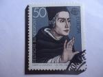 Stamps Germany -  Albertus Magnus (1200-1280)- El polimata de la Edad Medieval- Europa (CEPT)