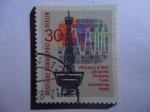 Stamps Germany -  Torre de Transmisión-25a Gran exposición de Radio Aleman-Berlin -