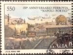 Sellos del Mundo : Europa : Italia : 1989 550 A 150 Anniversario Ferrovia