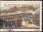 Sellos del Mundo : Europa : Italia : 1989 550 B 150 Anniversario Ferrovia