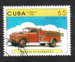Sellos de America - Cuba -  Carros de Bomberos