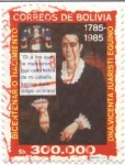 Stamps of the world : Bolivia :  Bicentenario del Nacimiento de Doña Vicenta Juaristi Eguino