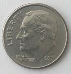 monedas del Mundo : America : Estados_Unidos :  2011 one dime