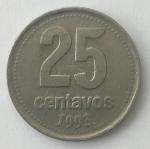 monedas del Mundo : America : Argentina :  1993 - 25 centavos