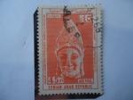 Stamps Syria -  Cabeza de Hombre Joven-Antiguo Arte Sirio. Siglo IV a.C. - Arqueología-Arte.