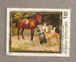 Stamps Hungary -  Niño con caballo de Janos Vaszary
