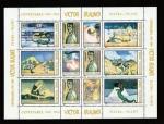 Stamps Romania -  Silueta sosteniendo calavera