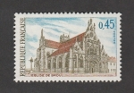 Stamps of the world : France :  Iglesia de Brou