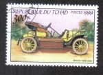 Stamps : Africa : Chad :  Automoviles Antiguos