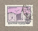 Stamps Hungary -  Plaza prinicipal de Szarvas