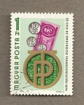 Stamps Hungary -  Emblema de monedas y billetes de banco