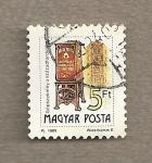 Stamps Hungary -  Buzón antiguo
