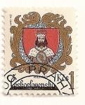 Sellos de Europa - Checoslovaquia -  Escudo de ciudades. Milevsko