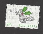 Sellos de Oceania - Australia -  Angel tocando trompeta