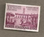 Sellos de Europa - Italia -  X Aniversario Tratado de Roma