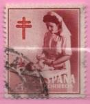 Stamps Spain -  Pro Tuberculosos ( Enfermera puericultora)