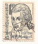 Sellos de Europa - Checoslovaquia -  Hombres famosos. A. Mozart  1756-1791.