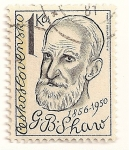 Stamps Czechoslovakia -  Hombres famosos, George B. Shaw  1856-1950.
