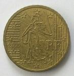monedas del Mundo : Europa : Francia :  2000 - 50 centro euro