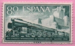 Stamps Spain -  XVII Congreso internacional d´Ferrocarriles (Locomotora 242-F)