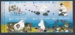 Stamps Finland -  Los moomins en verano:escribiendo a máquina