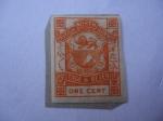 Stamps Asia - Brunei -  Borneo del Norte - Escudo de Armas Inscrito Británico del Norte de Borneo - Reina Victoria.