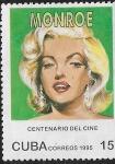 Sellos de America - Cuba -  Centenario del cine, Marilyn Monroe