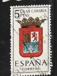 Stamps : Europe : Spain :  Escudo de armas de Gran Canaria