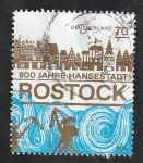 Stamps Germany -  800 Anivº de la ciudad de Rostock