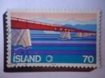 Stamps : Europe : Iceland :  Construcción de carreteras y Puentes - Island.
