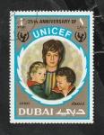 Stamps : Asia : United_Arab_Emirates :  Dubai - 87 - 25 Anivº de UNICEF