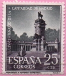 """Stamps of the world : Slovenia :  IV centenario d´l´Capital d´Madrid"""" Monumento a Alfonso XII """""""
