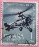 Stamps Spain -  L aniversario d´l´Aviacion Española