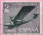 "Stamps of the world : Spain :  L aniversario d´l´Aviacion Española ""Hidroavion Plus Ultra"""