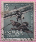 "Stamps of the world : Spain :  L aniversario d´l´Aviacion Española ""JCaza d´l´´avutarda"""