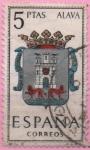 """Stamps of the world : Spain :  Escudos d´l´capitales d´provincias Españolas """" Alava"""""""