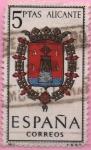 """Stamps of the world : Spain :  Escudos d´l´capitales d´provincias Españolas """" Alicante"""""""