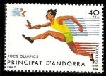 Stamps Andorra -  Juegos Olímpicos de los Angeles