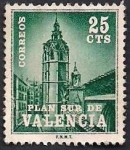 Stamps : Europe : Spain :  Plan sur - Valencia