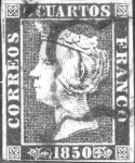 Stamps Europe - Spain -  1850 - Isabel II