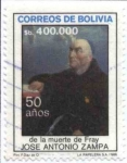 Stamps of the world : Bolivia :  50 Años de la muerte de Fray Jose Antonio Zampa